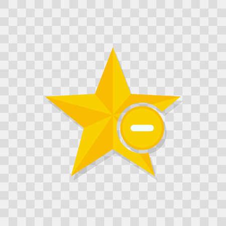 Star icon, minus icon.