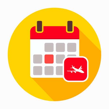 Airplane calendar icon