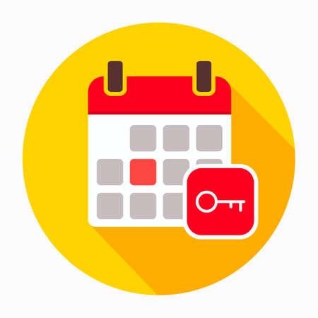 Key Calendar Day icon. Illustration