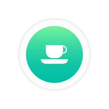 Cup pictogram teken symbool vector illustratie pictogram.
