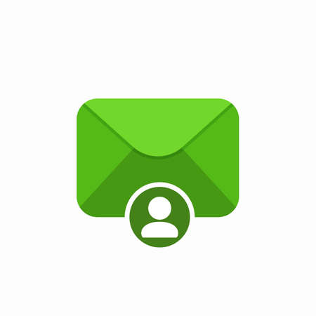 Email envelope mail message personal user icon. Vector Flat illustration Illustration