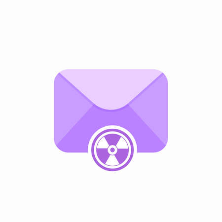 Anti virus email control email spam email virus spam virus control icon. Vector Flat illustration Illustration