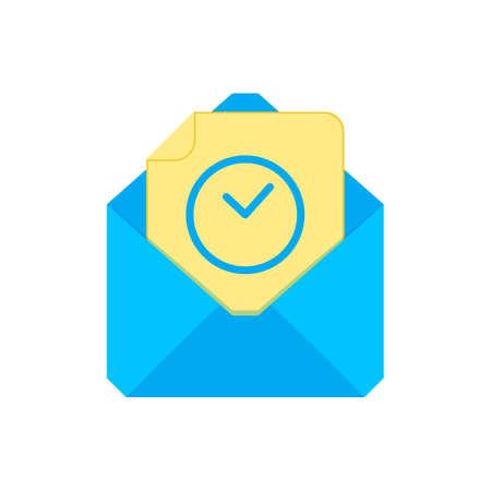 Mail symbol. Envelope icon. Wait for envelope. Sign design. Vector Flat illustration  イラスト・ベクター素材