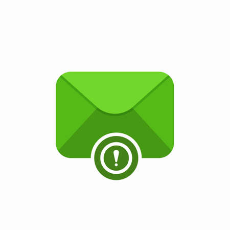 Attention email envelope mail message icon. Vector Flat illustration Illustration