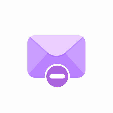Email message minus icon. Vector Flat illustration