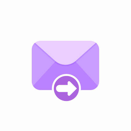 Email envelope forward mail message icon. Vector Flat illustration