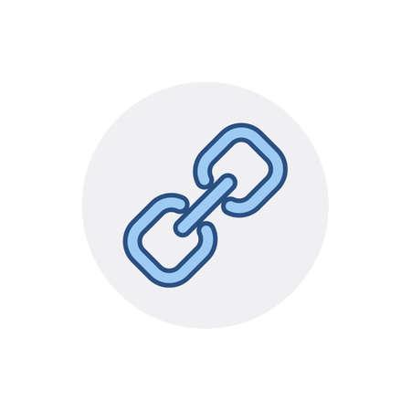 Hyperlink link web web link icon. Vector flat icon Illustration
