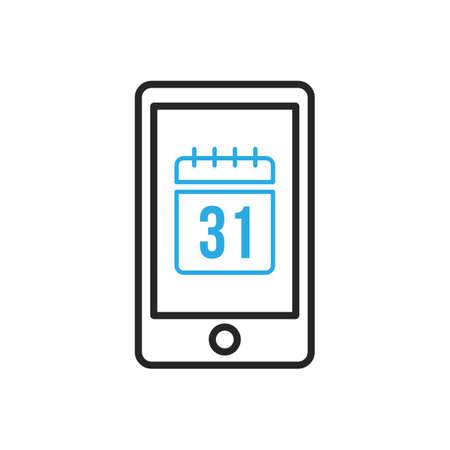 Smartphone icon. Mobile organizer. Vector illustration Ilustração