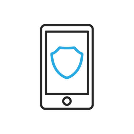 Smartphone icon. Mobile protection. Vector illustration