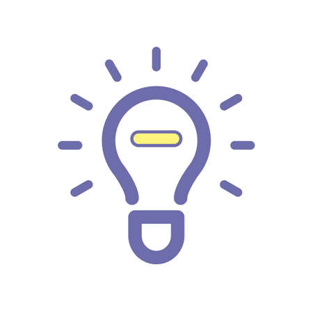 Light bulb idea stop icon. Vector illustration