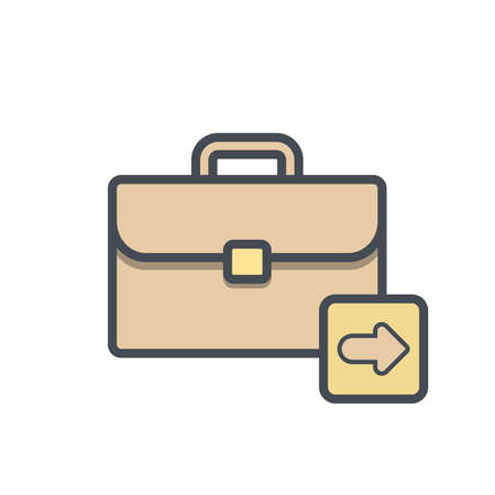 Bag, briefcase, business, next, portfolio, suitcase, work icon vector illustration.