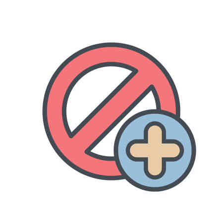 Add block cancel lock stop icon. Vector illustration