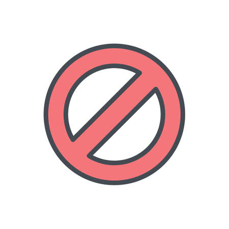 Block cancel lock stop icon vector illustration Illustration