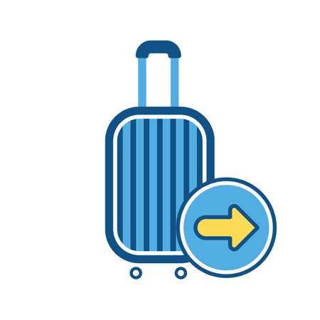Baggage, luggage, next sign, suitcase, travel bag, vacation icon. Vector illustration