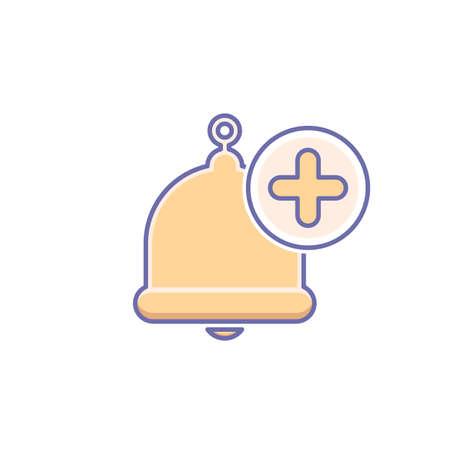Icono de campana Ilustración vectorial