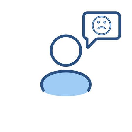 Speech bubble user icon. Communication, people talk icon. Vector illustration