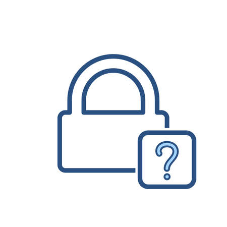 Forgot lock office password icon. Vector illustration