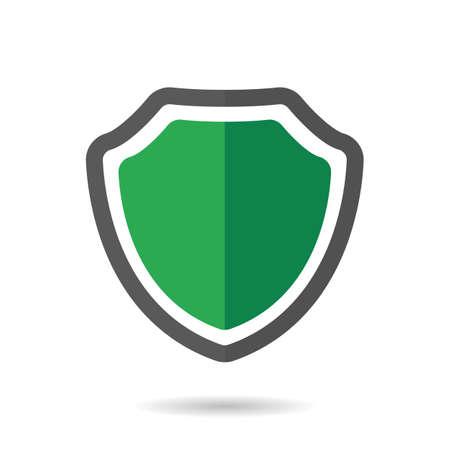 Shield icon. Vector illustration