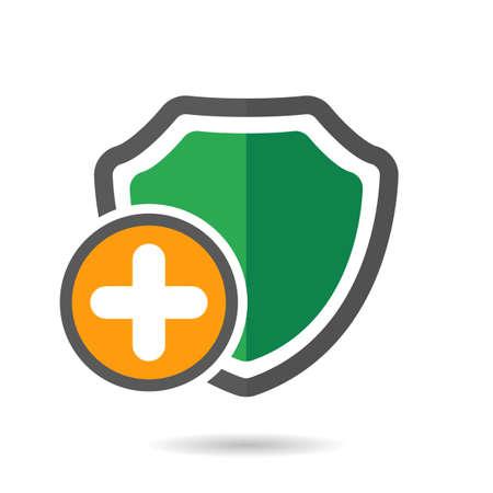 Medicine shield icon. Vector illustration