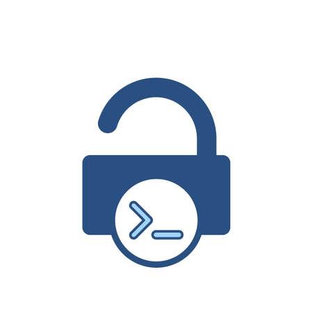 Admin console input lock office open icon. Vector illustration Ilustração
