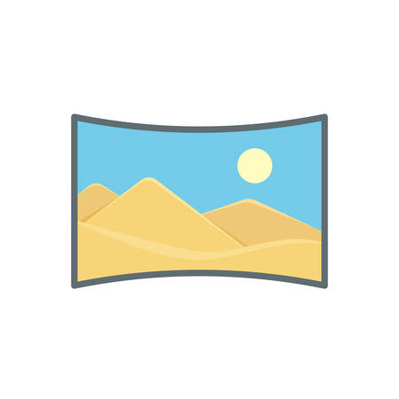 Image panorama photo photography picture preview icon. Vector illustration