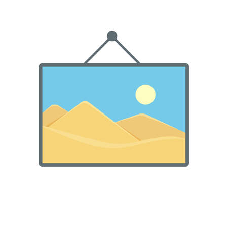 Art hang image photo photography picture icon. Vector illustration Stock Illustratie