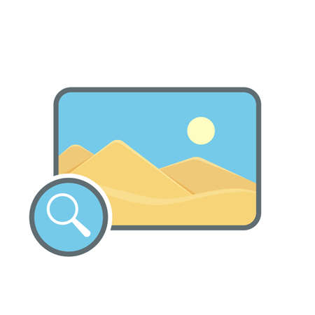 Image photo photography picture search icon. Vector illustration