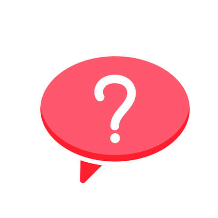 Ask bubble chat dialogue message questionmark speech icon. Vector illustration