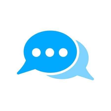Bubble chat dots message icon. Vector illustration.