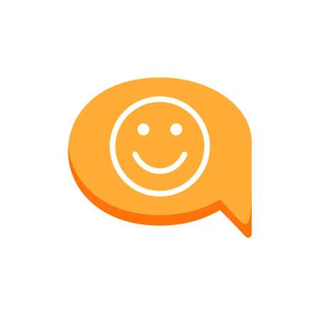 Bubble chat dialogue emotion face happy message smile speech icon. Vector illustration 矢量图像