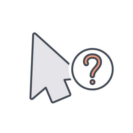 Arrow cursor info mouse pointer icon Vector illustration
