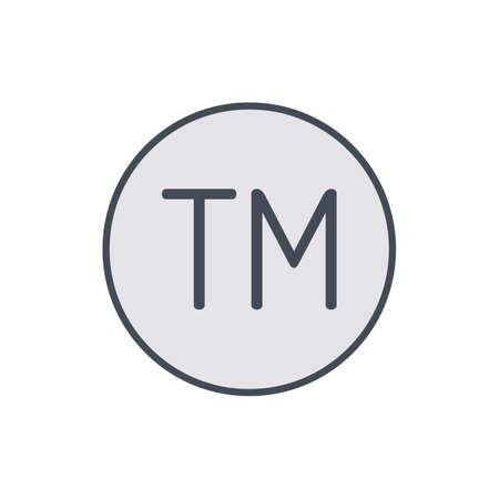 Copy copyright mark restriction right trade trademark icon. Vector illustration Illustration