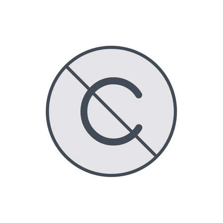 Allow copyright. No restriction right icon. Vector illustration Stock Illustratie
