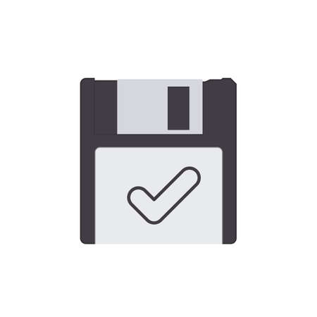 Check disk drive floppy save storage icon. Vector illustration