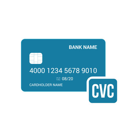 Bank card cvc security icon. Vector illustration