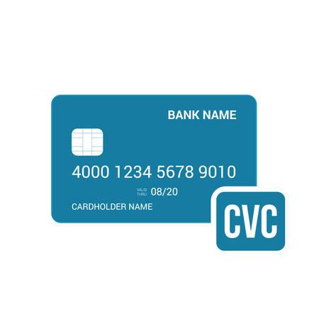 Bank card cvc security icon. Vector illustration