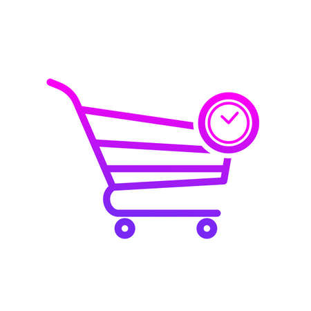 Buy cart delay shop store time vector icon. Illustration