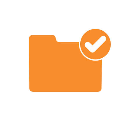 Accept check folder good ready valid verify icon. Vector icon