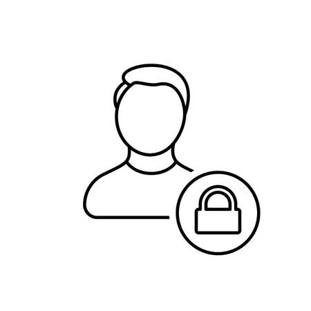 Account security icon. Vector line icon