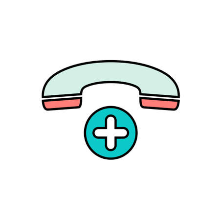 Add button new phone plus telephone icon. Vector illustration
