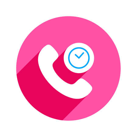 Clock deadline handle handset phones telephone icon. Vector illustration Illusztráció