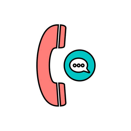 Chat bubble communication phone phone call phones speech bubble telephone icon. Vector illustration