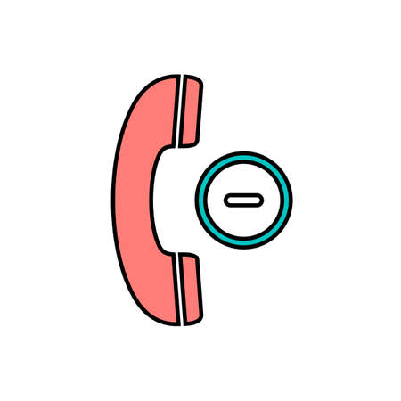 Button cancel handle handset minus phone telephone icon. Vector illustration 일러스트