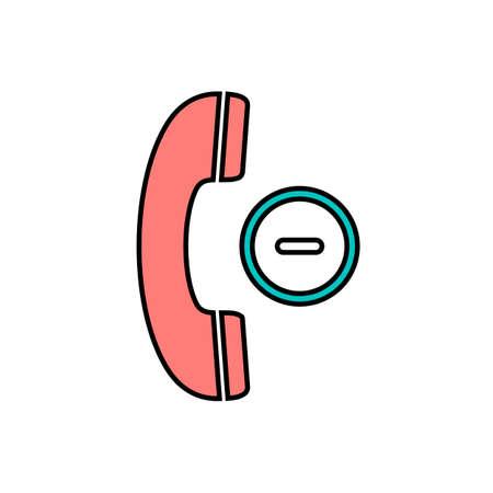 Button cancel handle handset minus phone telephone icon. Vector illustration Vectores
