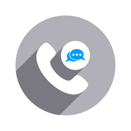 Chat bubble handle handset phone phone call speech bubble telephone icon Vector illustration