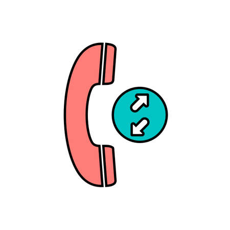 Arrows calls incoming outgoing phone telephone icon. Vector illustration