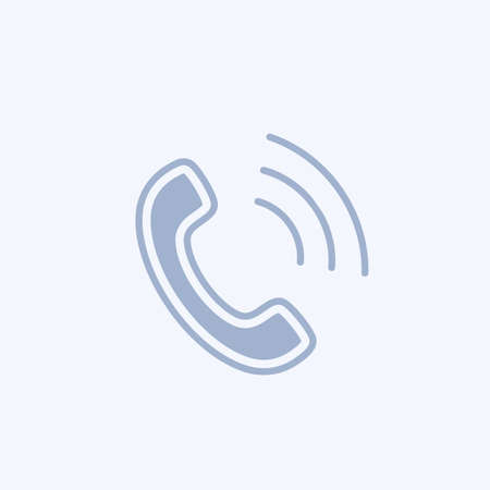 Phone icon Flat Phone sign isolated icon sign vector
