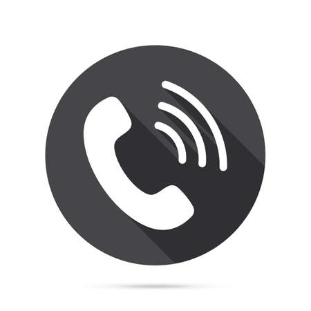 Phone icon. Flat Phone sign isolated icon sign vector