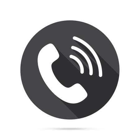 Icono de teléfono. Teléfono plano signo aislado icono signo vector