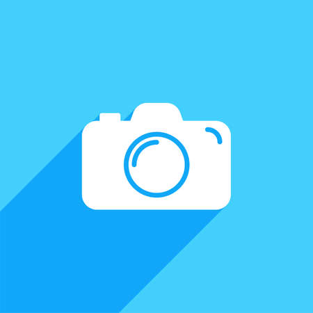 Camera icon. Flat camera sign isolated icon sign vector